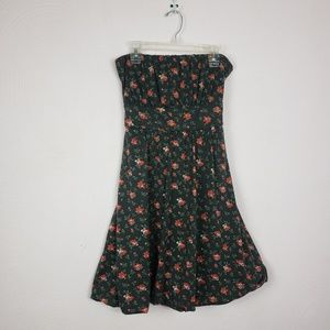American Rag cie Strapless Floral Dress Size Large